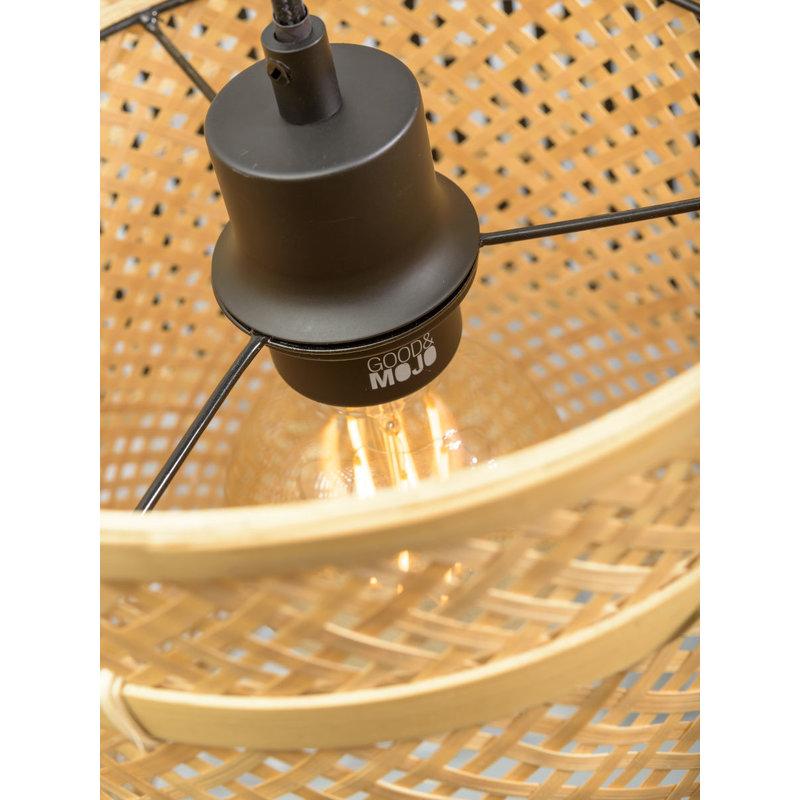 Good&Mojo-collectie Wall lamp Bhutan natural/shade dia.50x30cm bl./nat. L