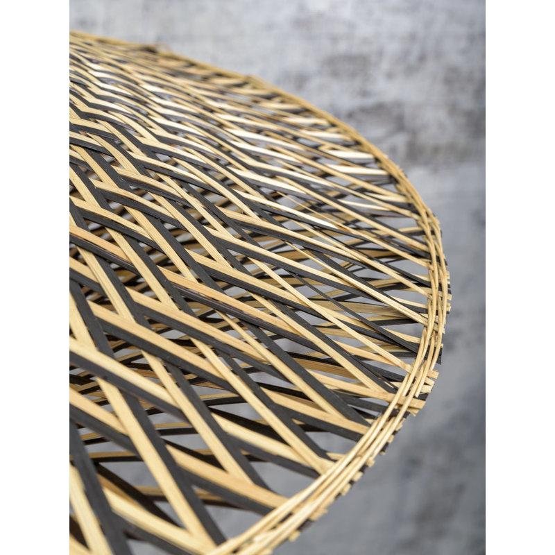 Good&Mojo-collectie Wall lamp Bali dia.60x15cm black/natural, M