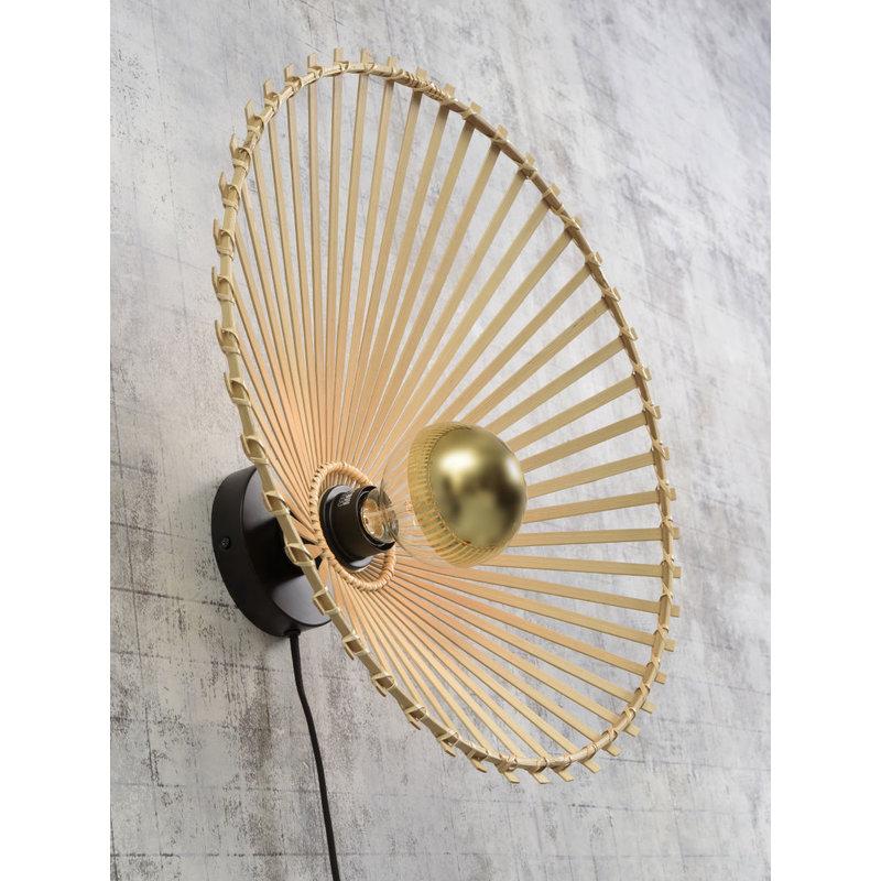 Good&Mojo-collectie Wandlamp Bromo asym. 40cm naturel S