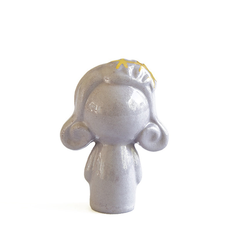 Atelier W.-collectie Ceramic figurine Doll me up hairband lavender with gold height 7cm