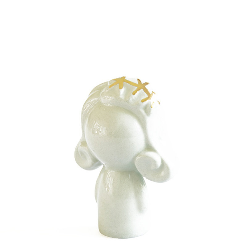 Atelier W.-collectie Ceramic figurine Doll me up hairband mint with gold height 7cm