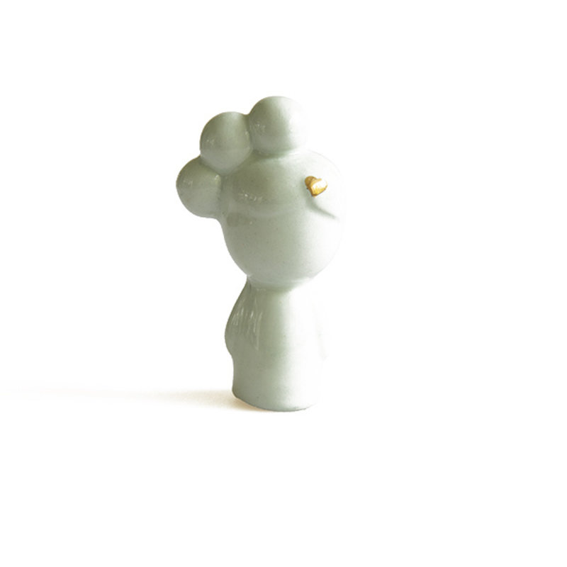 Atelier W.-collectie Ceramic figurine Doll me up buns mint with gold height 7cm
