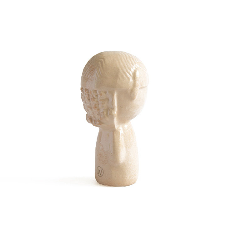 Atelier W.-collectie Ceramic figurine Doll me up bandana nude with gold height 6,5cm