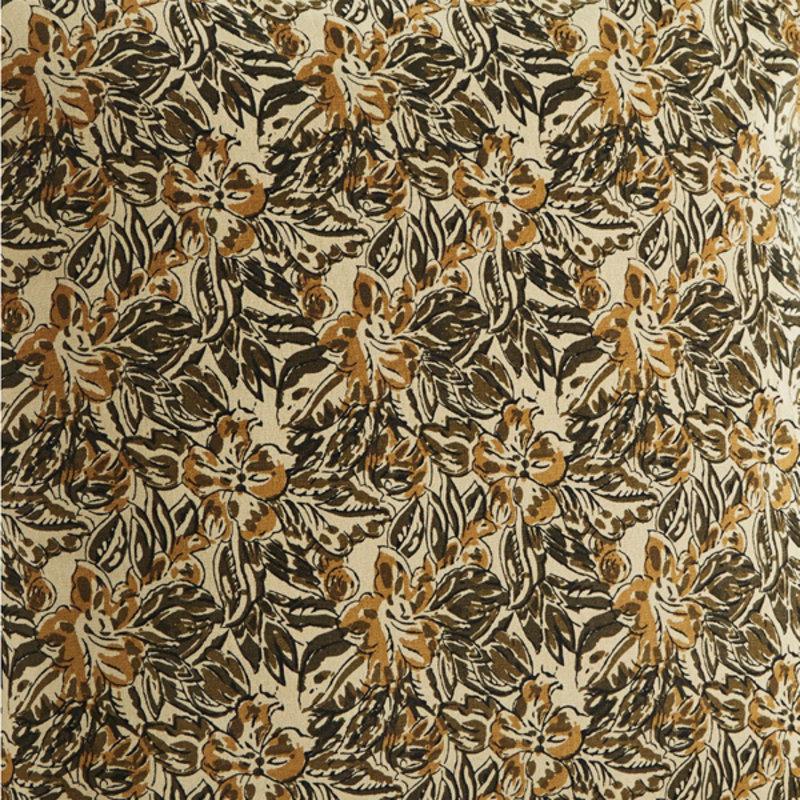 Madam Stoltz-collectie Matraskussen print zand, mosterd olijf, zwart 60x100 cm