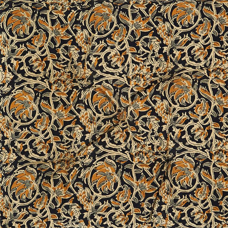 Madam Stoltz-collectie Printed cotton mattress Sand, black, grey, mustard 70x180 cm