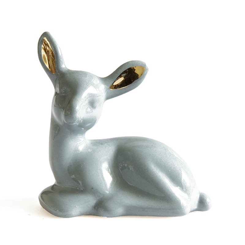 Atelier W.-collectie Ceramic figurine My Deer deer blue gold white height 9cm