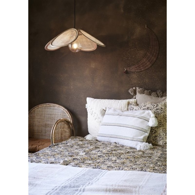 Madam Stoltz-collectie Hanglamp van rotan naturel