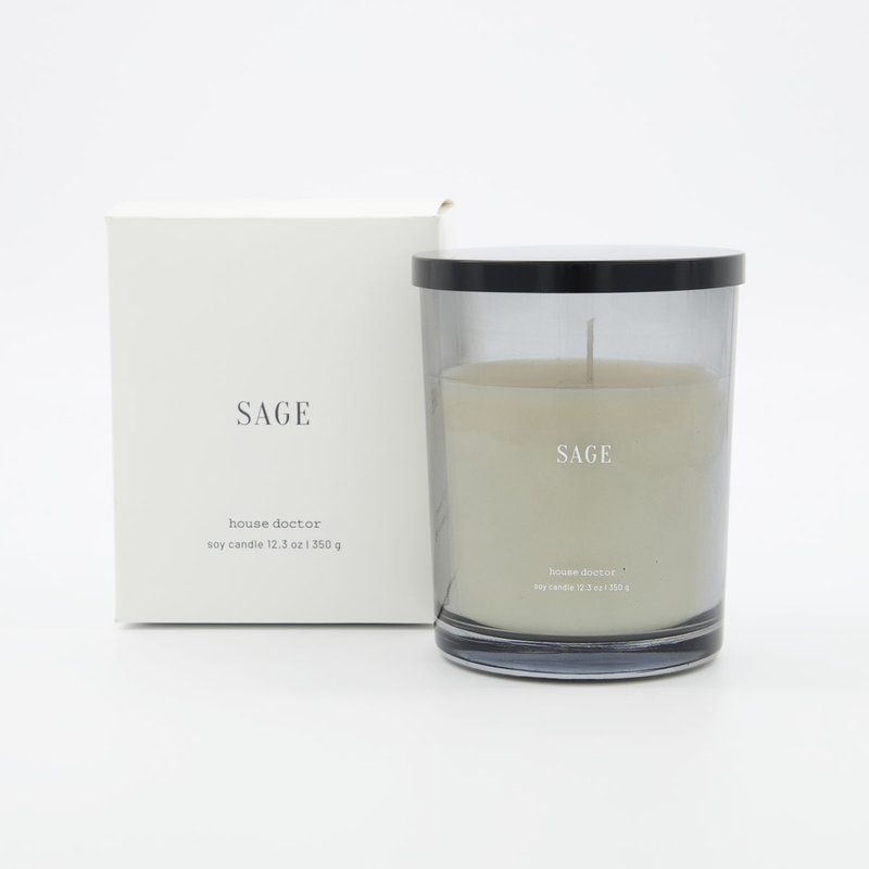 House Doctor-collectie House Doctor  Scented candle Sage Blue Burning time: 52 hours