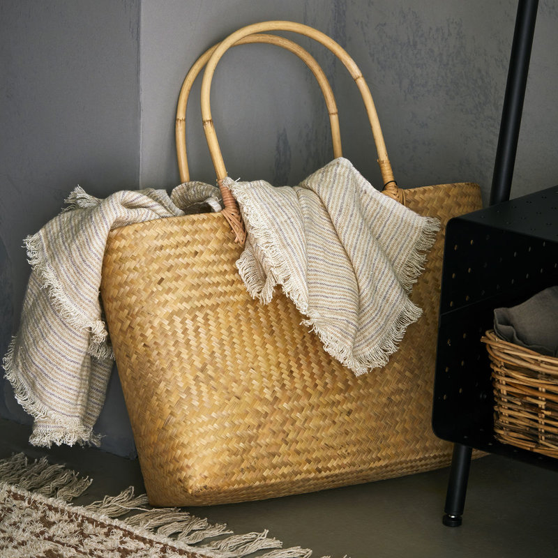 House Doctor-collectie Bamboe shopper Nusa  naturel