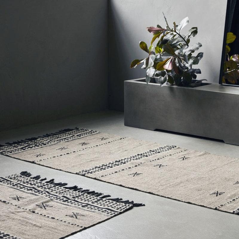 House Doctor-collectie Vloerkleed Cros zand 300x90
