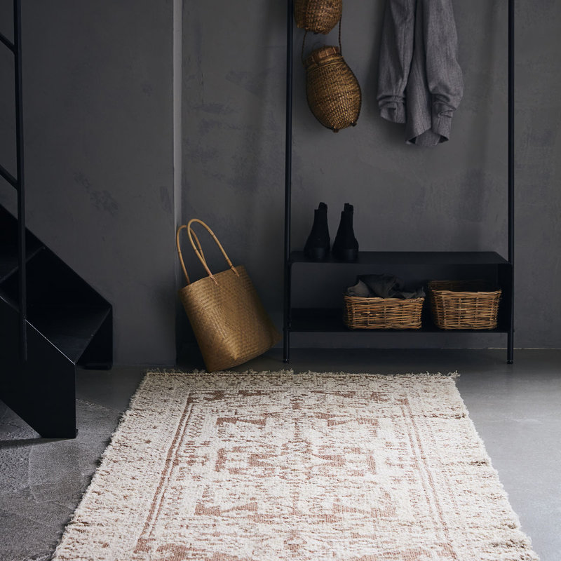 House Doctor-collectie House Doctor  Rug Wowe Beige Finish/Colour/Size may vary Handmade  200 x 90