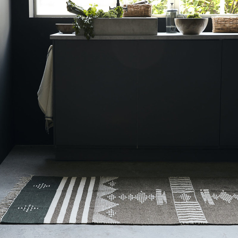 House Doctor-collectie House Doctor  Rug Coto Brown Finish/Colour/Size may vary Handmade  200 x 90