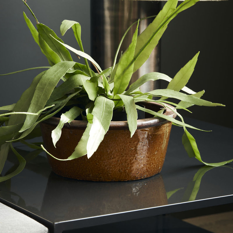 House Doctor-collectie Plantenpot Whai Mosterd geel 13x30