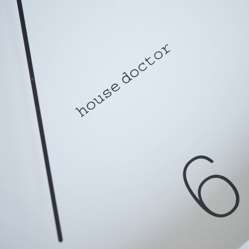House Doctor-collectie House Doctor  Wall clock Shape Grey (Battery AA)