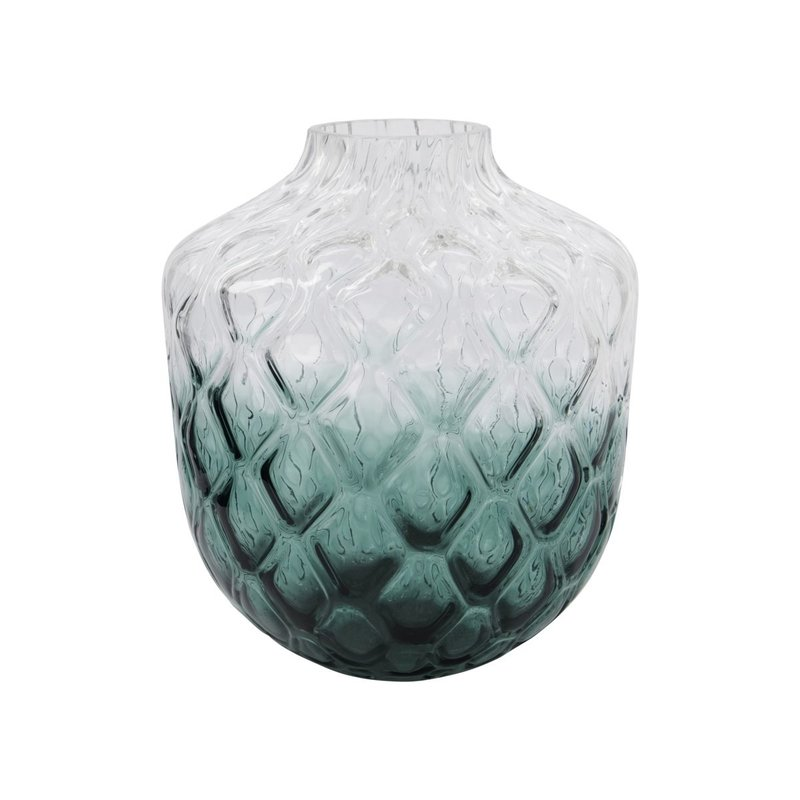 House Doctor-collectie House Doctor  Vase Art Deco Green Finish/form may vary