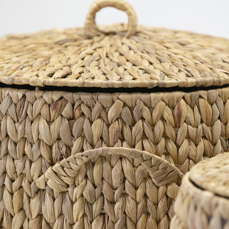 House Doctor-collectie House Doctor  Baskets/Storages Laun Natural Set of 2 sizes S: h: 57 cm dia: 37 cm L: h: 64 cm dia: 45 cm