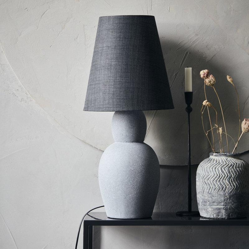 House Doctor-collectie House Doctor  Table lamp incl. lamp shade Orga Grey E27