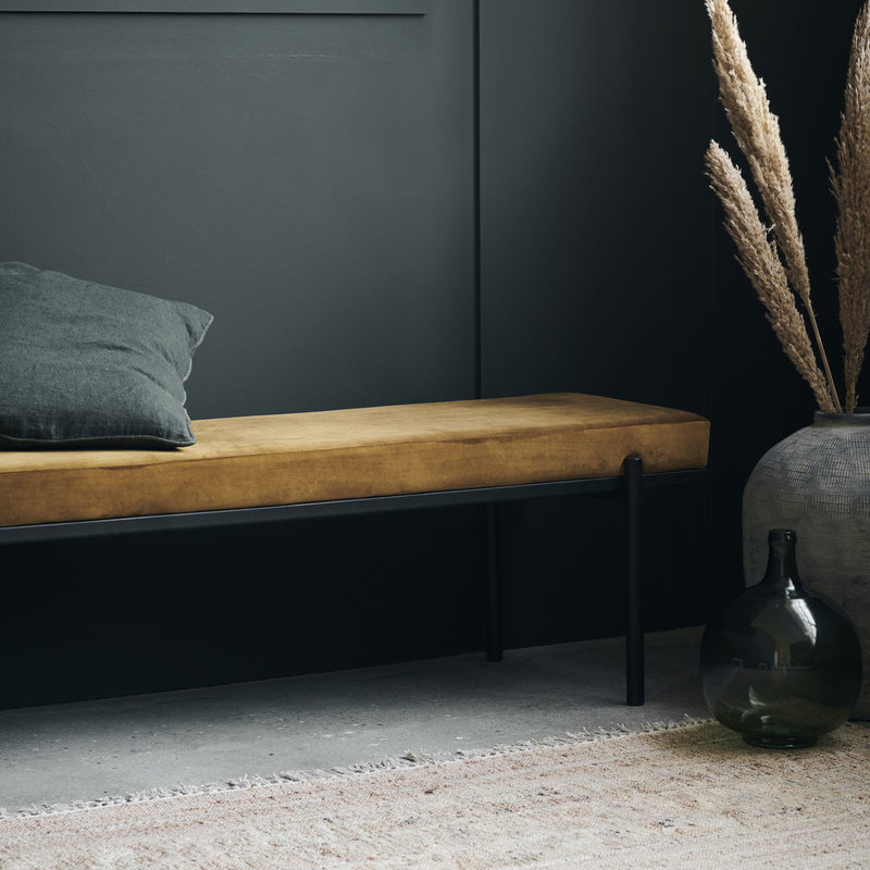 House Doctor-collectie House Doctor  Bench Lao Dark Olive Seat height: 45 cm l: 160 cm w: 40 cm h: 45 cm