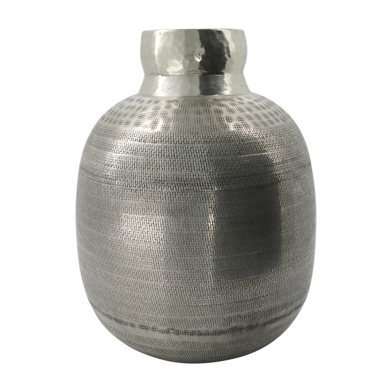 House Doctor-collectie House Doctor  Vase Artine Antique silver Handmade Finish/Colour/Size may vary h: 36 cm dia: 28 cm