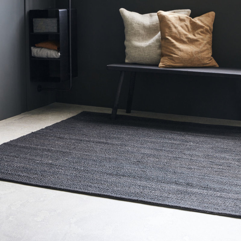 House Doctor-collectie House Doctor  Rug Hempi Black Handmade Finish may vary 180x180