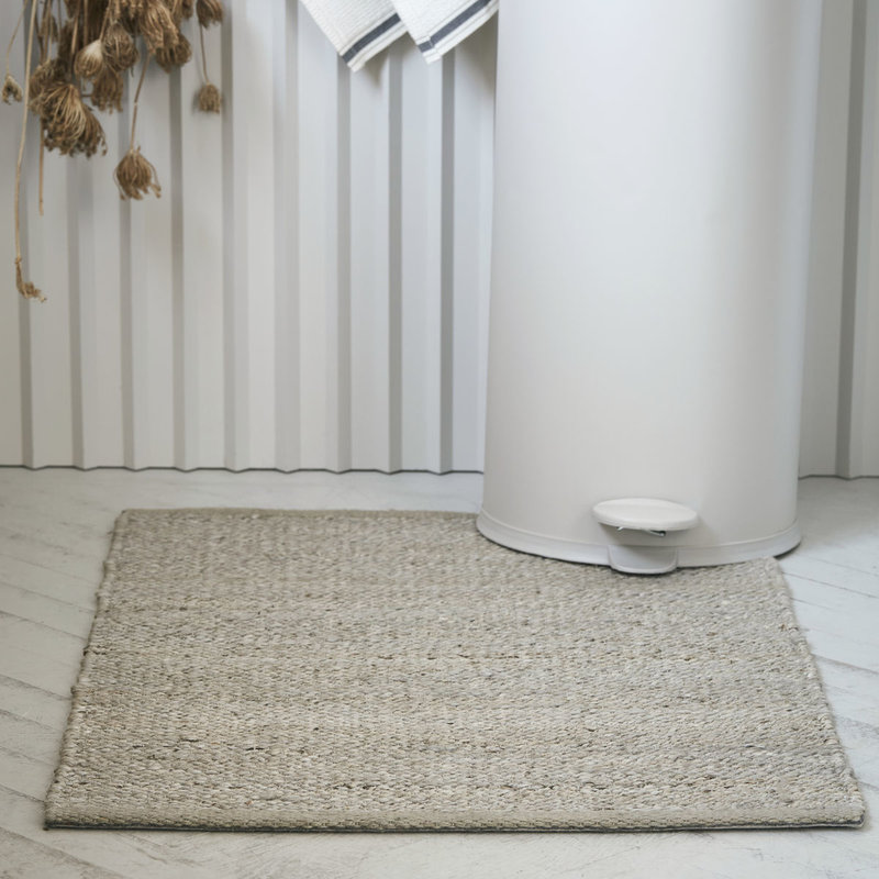 House Doctor-collectie House Doctor  Rug Hempi Light grey Handmade Finish may vary 90x60