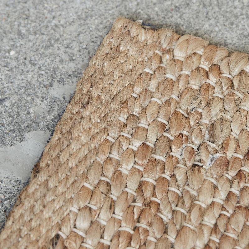House Doctor-collectie Vloerkleed Hempi  naturel 250x250