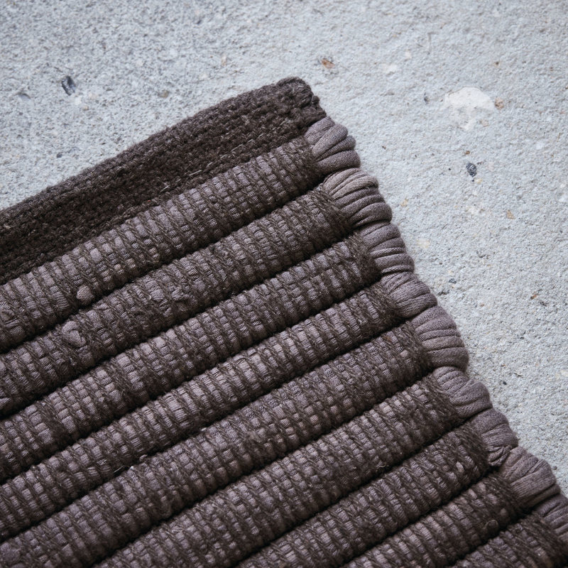 House Doctor-collectie House Doctor  Rug Chindi Brown Handmade Finish may vary 90x60
