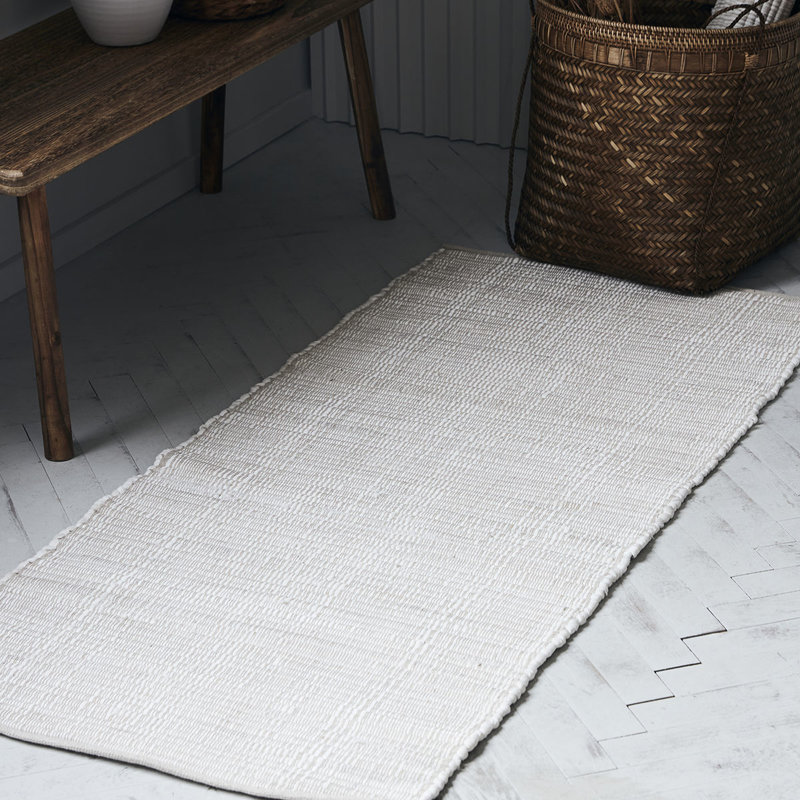 House Doctor-collectie House Doctor  Rug Chindi White Handmade Finish may vary 160x70