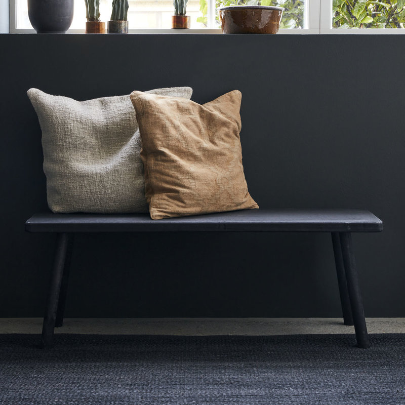 House Doctor-collectie House Doctor  Bench Nadi Black Seat height: 43 cm l: 120 cm w: 38 cm h: 43 cm