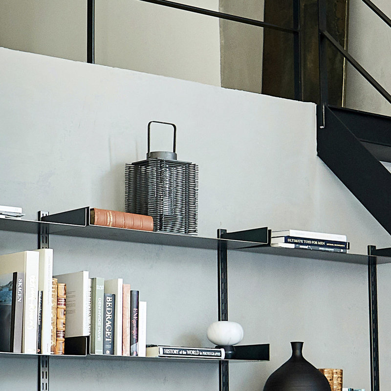House Doctor-collectie House Doctor  Lantern Asi Dark grey Incl. glass cup