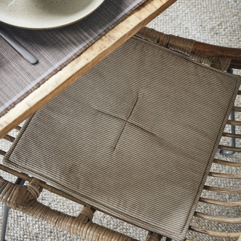House Doctor-collectie House Doctor  Chair pad Cord Sand