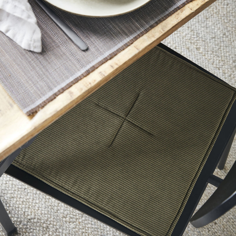 House Doctor-collectie House Doctor  Chair pad Cord Green
