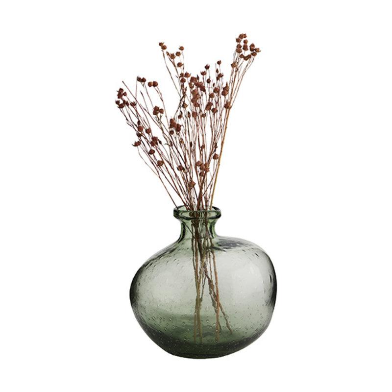 Madam Stoltz-collectie Glazen vaas laag groen
