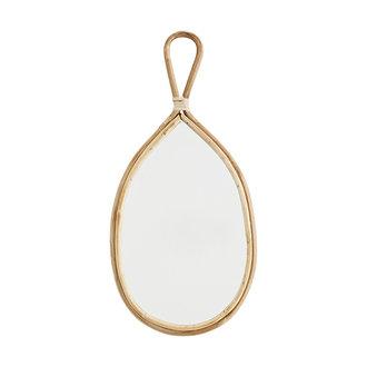Madam Stoltz Ovale spiegel met bamboe frame