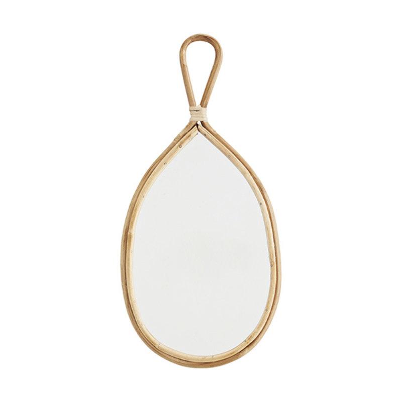 Madam Stoltz-collectie Ovale spiegel met bamboe frame