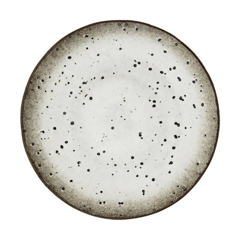 Madam Stoltz-collectie Dinerbord wit-bruin