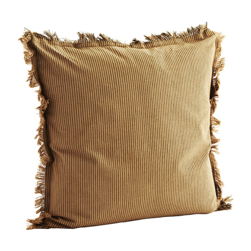 Madam Stoltz-collectie Woven cushion cover w/ fringes