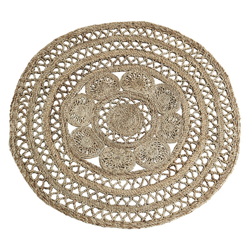 Madam Stoltz-collectie Round jute braided rug