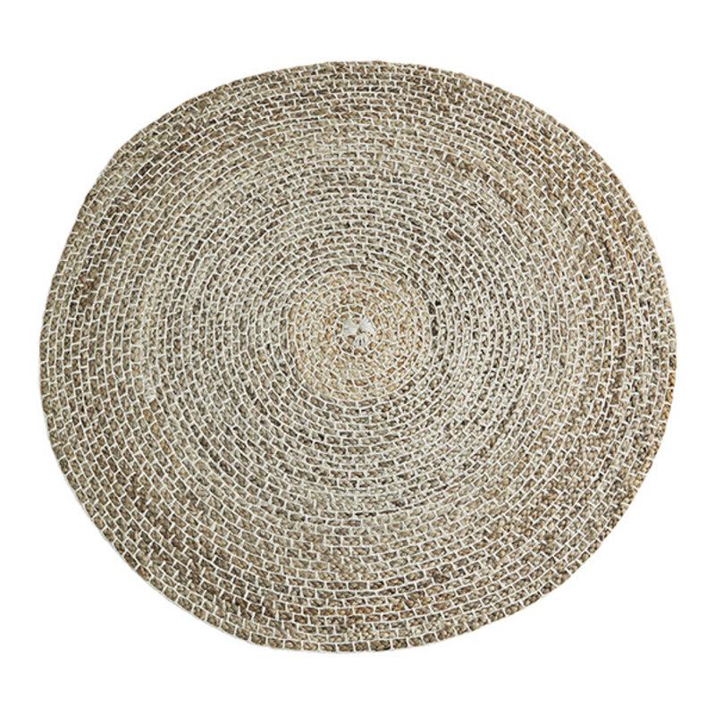 Madam Stoltz-collectie Vloerkleed jute rond naturel 120cm