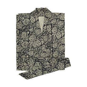 Madam Stoltz Printed cotton kimono w/ belt