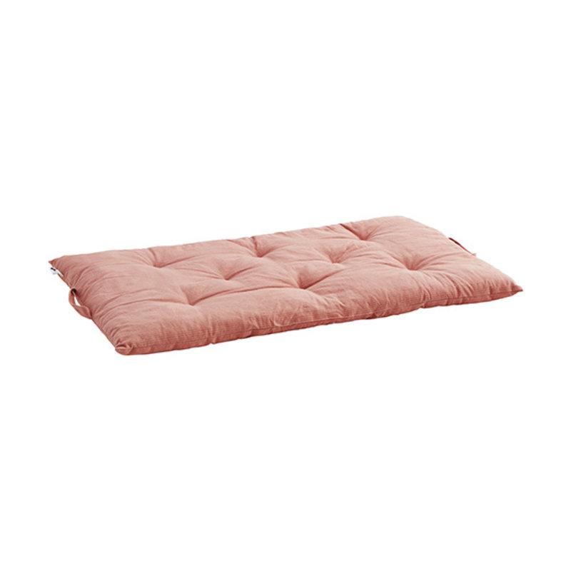 Madam Stoltz-collectie Matraskussen streep roze , grijs 60x100 cm