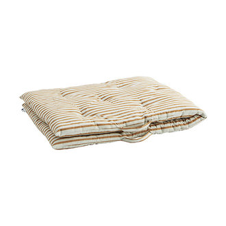 Madam Stoltz Striped woven mattress Off white, dark honey 70x180 cm