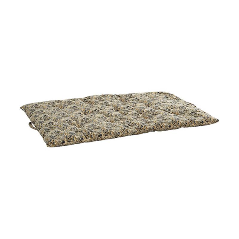 Madam Stoltz-collectie Printed cotton mattress Sand, mustard, black, grey 80x120 cm