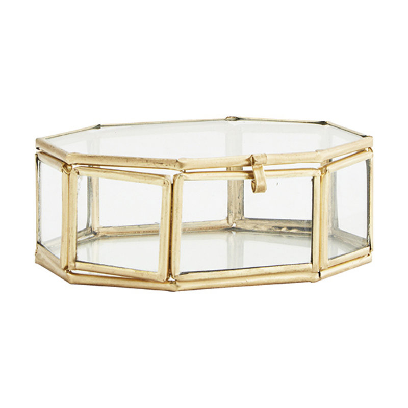 Madam Stoltz-collectie OCTAGONAL GLASS BOX
