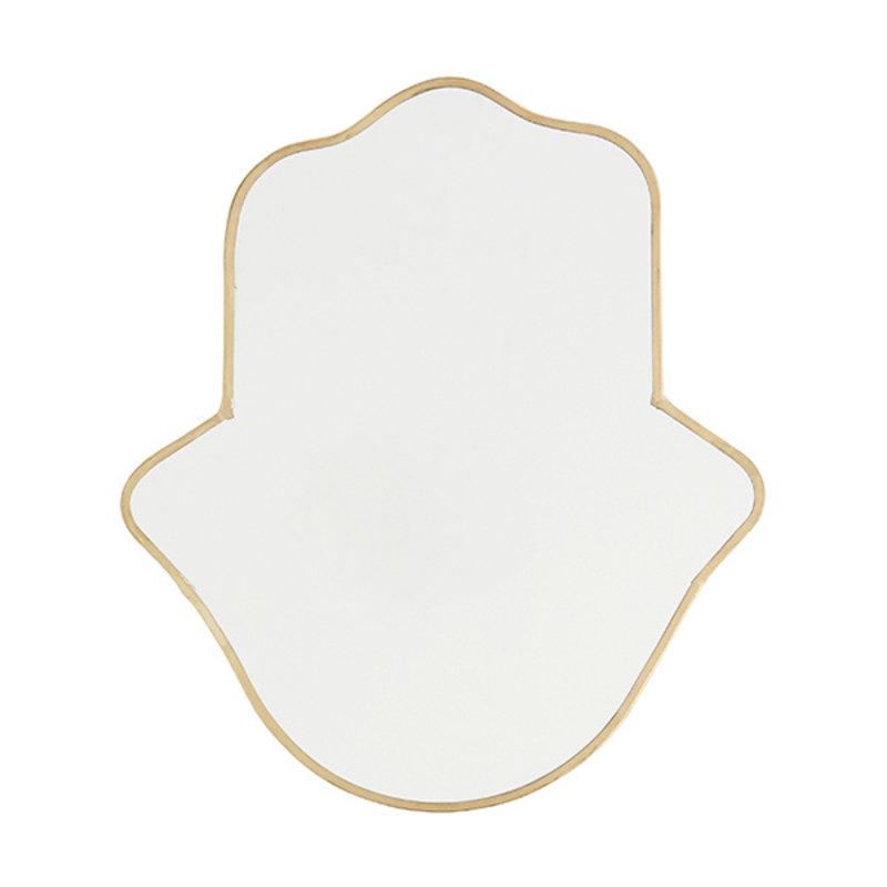 Madam Stoltz-collectie Spiegel hand brass 30 cm