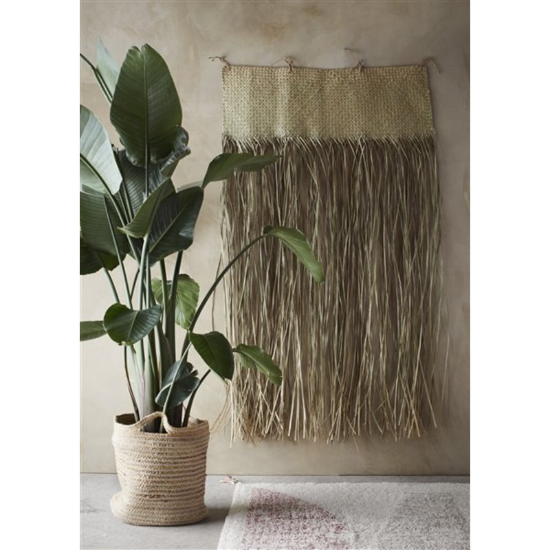 Madam Stoltz-collectie Grass wall deco Natural 90x160 cm