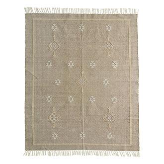 Madam Stoltz Handwoven cotton rug Greige, off white, nude 120x180 cm