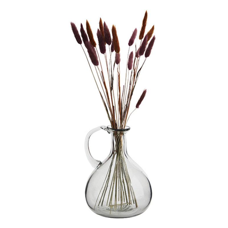 Madam Stoltz-collectie Glass jug w/ handle Clear D:17x22 cm