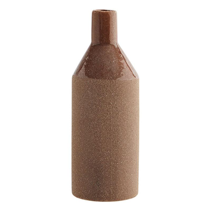 Madam Stoltz-collectie Stoneware vase  Sandstone, brick D:7x20 cm