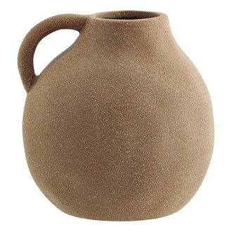 Madam Stoltz Aardewerk vaas met handvat 14,5 cm